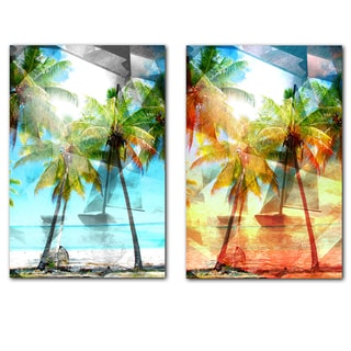 Alexis Bueno 'Abstract Paradise' Canvas Wall Art 2-piece Set