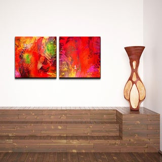 Alexis Bueno 'Abstract' 2-piece Canvas Wall Art Set