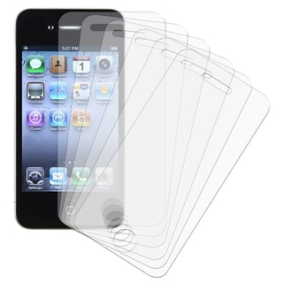 BasAcc Anti-glare Screen Protector for Apple iPhone 4 (Pack of 6)