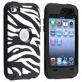 BasAcc Black Hard/ Black Zebra Hybrid Case for Apple iPod touch 4