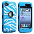 BasAcc Black Hard/ Light Blue Zebra Skin Case for Apple iPod touch 4