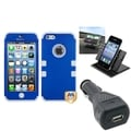BasAcc Car Charger/ Dashboard Holder/ Blue Case for Apple iPhone 5