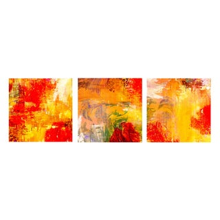 Bueno 'Abstract' Canvas Wall Art (Set of 3)