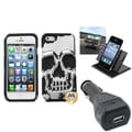 BasAcc Car Charger/ Dashboard Holder/ Skullcap Case for Apple iPhone 5