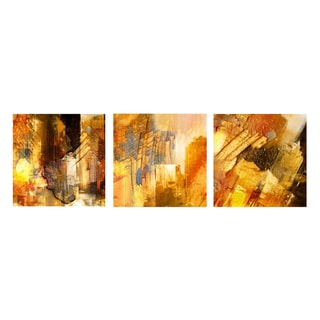 Alexis Bueno 'Abstract' Canvas Wall Art 3-pc Set