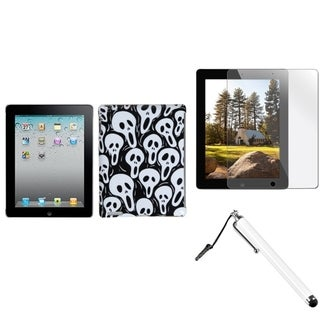 BasAcc Ghosts Case/ Stylus/ Screen Protector for Apple iPad 2/ 3/ 4