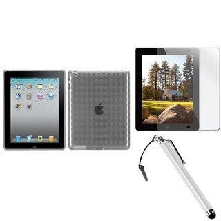 BasAcc T-Clear Case/ Stylus/ Screen Protector for Apple iPad 2/ 3/ 4
