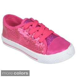 Journee Girl's 'K-Jenny-Gltz' Sequined Lace-up Shoes