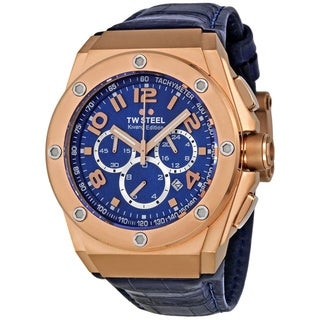 TW Steel Men's 'CEO Tech' Blue Dial Chronograph Watch