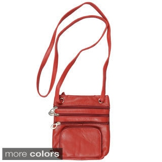 Journee Collection Women's Leather Mini Travel Purse with Strap