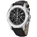 Curevo Y Sobrinos Men's 'Robusto Chrono' Black Patent Strap Watch