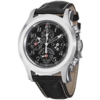 Cuervo Y Sobrinos Men's 2859.1N 'Robusto Chrono' Black Dial Moon Phase Watch