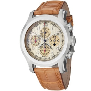 Cuervo Y Sobrinos Men's 'Robusto Chrono' Champagne Dial Watch