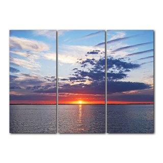 Chris Doherty 'Sunset' Acrylic Art 3-piece Set