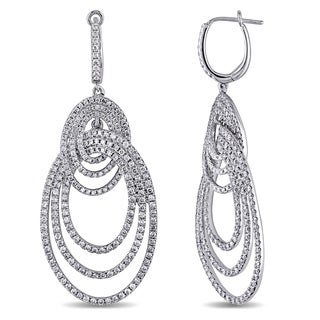 Miadora 14k White Gold 3 1/2ct TDW Diamond Earrings (G-H, SI1-SI2)