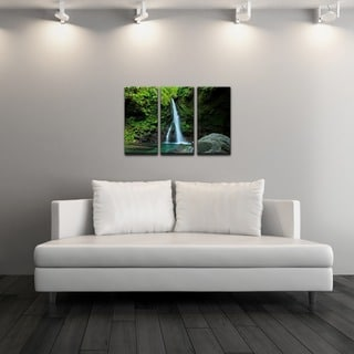 Chris Doherty 'Waterfall' Acrylic Art 3-piece Set