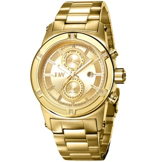 JBW Men's 'Strider' Diamond-accented Goldplated Watch