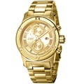 JBW Men's 'Strider' Diamond-accented Goldplated Watch