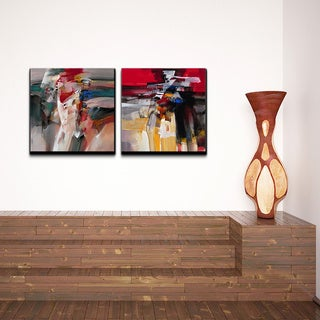 Alexis Bueno 'Abstract' Canvas Wall Art 2-piece Set