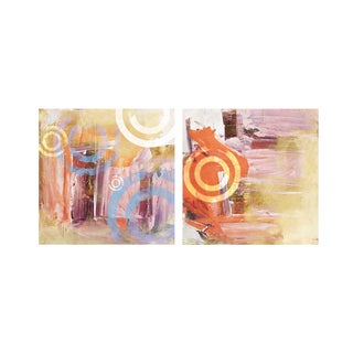 Alexis Bueno 'Abstract' Canvas Wall Art (Set of 2)