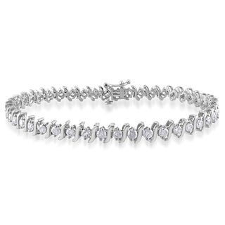 Miadora 14k White Gold 3ct TDW Diamond Bracelet (H-I, I2-I3)