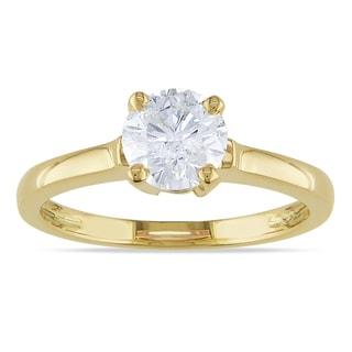 Miadora 14k Yellow Gold 1ct TDW Diamond Solitaire Ring (G-H, I1-I2)