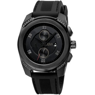 JBW Men's 'Mohawk' Black Diamond-accented Watch