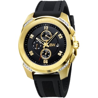 JBW Men's 'Mohawk' Goldplated Diamond-accented Watch