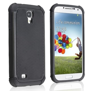 BasAcc Black Hybrid Armor Case for Samsung Galaxy S4/ S IV i9500