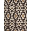 Hand-tufted Transitional Tribal Gray/ Black Rug (7'6 x 9'6)