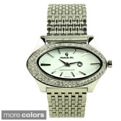 Charlie Jill Women's Oval Crystal-accented Watch