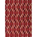 Hand-tufted Contemporary Abstract Red/ Orange Rug (5' x 7'6)