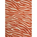 Hand-tufted Contemporary Animal Print Red/ Orange Rug (2' x 3')