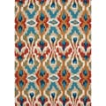Hand-tufted Transitional Tribal Pattern Blue Accent Rug (2' x 3')