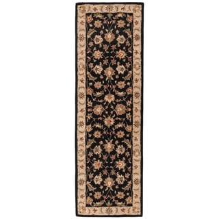 Hand-tufted Traditional Oriental Gray/ Black Rug (2'6 x 8')