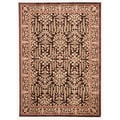 Traditional Oriental Pattern Brown Rug (5' x 7'6)