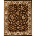 Hand-tufted Traditional Oriental Pattern Brown Rug (4' x 6')