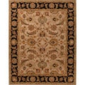 Hand-tufted Traditional Oriental Pattern Brown Rug (8' x 10')