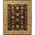 Hand-tufted Traditional Oriental Pattern Gray/ Black Rug (5' x 8')