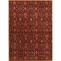 Hand-tufted Transitional Oriental Pattern Red/ Orange Rug (5' x 8')