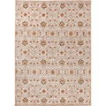 Hand-tufted Transitional Oriental Pattern Grey/ Orange Rug (2' x 3')