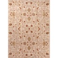 Hand-tufted Transitional Oriental Pattern Yellow Area Rug (5' x 8')