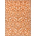 Hand-tufted Transitional Oriental Red/ Orange Wool Rug (8' x 11')