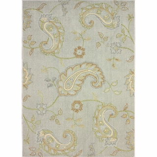 nuLOOM Machine-tufted Transitional Paisley Grey Rug (5' 6 x 7' 6)