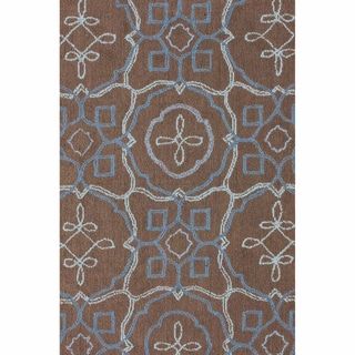 nuLOOM Machine-tufted Contemporary Geometric Trellis Brown Rug (8' x 11')