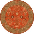 Hand-tufted Transitional Oriental Pattern Red/ Orange Rug (10' Round)