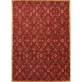 Hand-tufted Transitional Oriental Red/ Orange Rug (8' x 11')