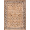 Hand-tufted Traditional Brown Oriental-pattern Wool Rug (8' x 11')