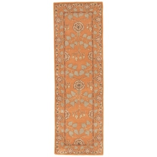 Hand-tufted Transitional Oriental Red/ Orange Rug (2'6 x 8')