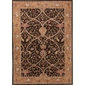 Hand-tufted Traditional Oriental Pattern Yellow Rug (2' x 3')